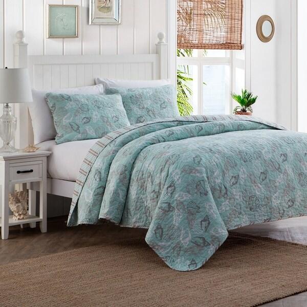 Seashell Cotton 3-piece Quilt Set