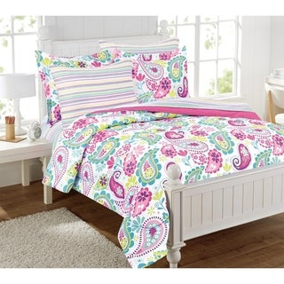 Garden Pasiley Pink/Purple Bed in a bag with extra sheet set