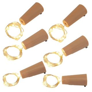 Wine Cork with Battery Operated Submersible Mini String Lights (6 Count)