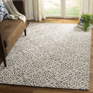 Safavieh Cambridge Moroccan Hand-Tufted Wool Grey/ Ivory Area Rug (3'x 5')