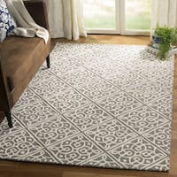 Safavieh Cambridge Moroccan Hand-Tufted Wool Grey/ Ivory Area Rug - 3' x 5'