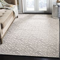 Safavieh Cambridge Moroccan Hand-Tufted Wool Ivory/ Grey Area Rug - 3'x 5'