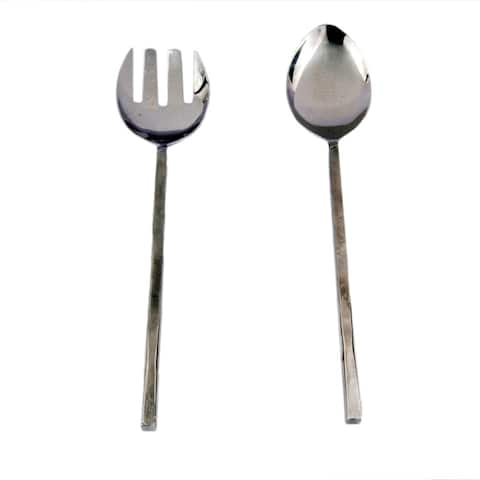 Inox Jason Design 2-piece Nascent Steel Salad Serving Set