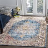 Safavieh Bristol Bohemian Oriental Blue/ Ivory Area Rug - 7' Square
