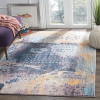 Safavieh Bristol Bohemian Abstract Multi Area Rug - 7' Square