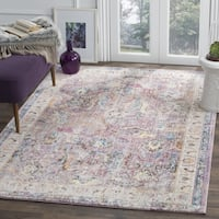 Safavieh Bristol Oriental Purple/ Grey Area Rug - 7' Square