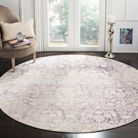 "Safavieh Passion Grey/ Ivory Area Rug - 6'7"" x 6'7"" round"