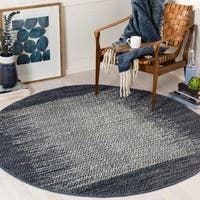 Safavieh Vintage Leather Modern Hand-woven Grey/ Multi Area Rug (6' Round)