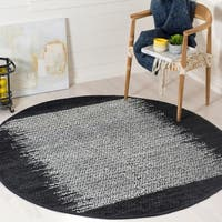 Safavieh Vintage Leather Modern Hand-Woven Red/ Multi Area Rug - 6' Round