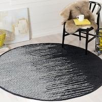 Safavieh Vintage Leather Modern Hand-Woven Black/ Multi Area Rug - 6' Round