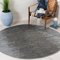Safavieh Vintage Leather Modern Hand-Woven Grey Area Rug - 4' Round