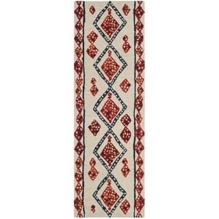 Safavieh Aspen Southwestern Hand-Tufted Wool Ivory/ Multi Runner Rug (2'3 x 7')