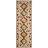 """Safavieh Aspen Southwestern Hand-Tufted Wool Ivory/ Multi Runner Rug - 2'3"""" x 7'"""