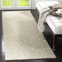 "Safavieh Cambridge Moroccan Hand-Tufted Wool Grey/ Ivory Runner Rug - 2'6"" x 8'"