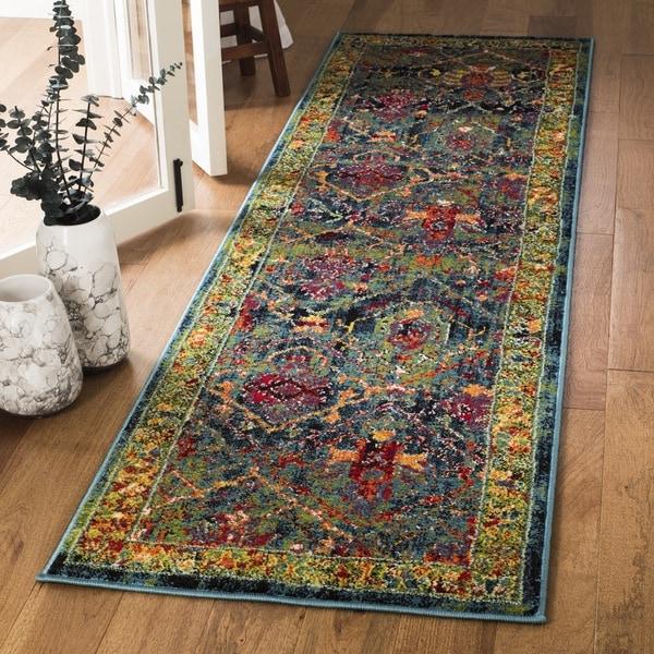 Safavieh Cherokee Oriental Blue/ Red Runner Rug (2'3 x 8')