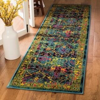 Safavieh Cherokee Oriental Black/ Blue Runner Rug (2'3 x 8')