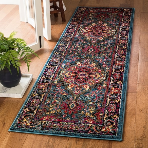 Shop Safavieh Cherokee Boho Medallion Blue/ Pink Runner