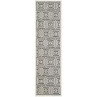 Safavieh Cottage Contemporary Black/ Cream Runner Rug - 2'3 x 8'