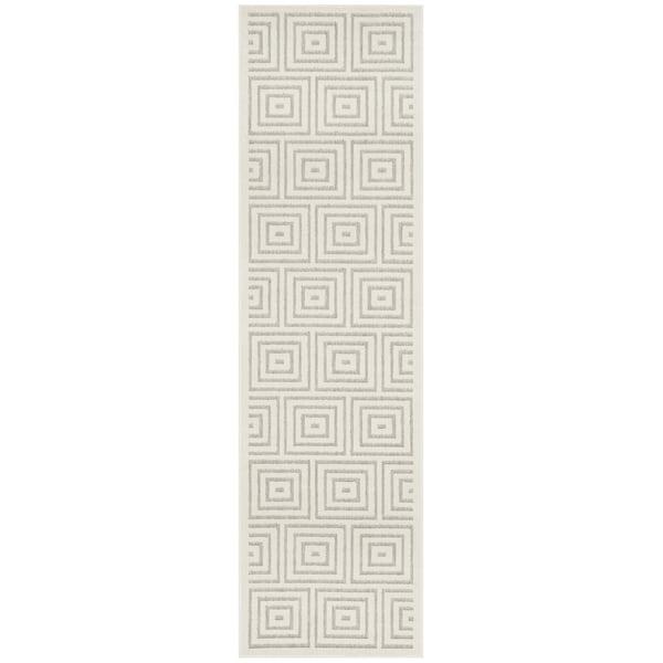 Safavieh Cottage Contemporary Grey/ Cream Runner Rug - 2'3 x 8'