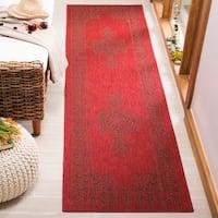 Safavieh Courtyard Red Runner Rug (2'3 x 8')