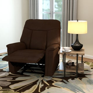 ProLounger Brown Microfiber Wall Hugger Recliner