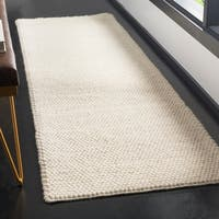 "Safavieh Natura Contemporary Solid Hand-Tufted Wool Ivory Runner Rug - 2'3"" x 8'"