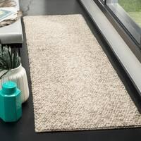 Safavieh Natura Contemporary Solid Hand-Tufted Wool Beige Runner Rug - 2'3 x 8'
