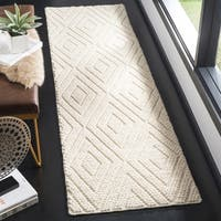 "Safavieh Natura Contemporary Hand-Tufted Wool Ivory Runner Rug - 2'3"" x 8'"