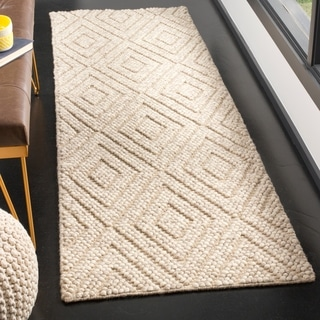 Safavieh Natura Contemporary Hand-Tufted Wool Beige Runner Rug (2'3 x 8')