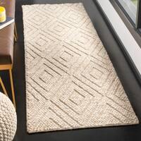 Safavieh Natura Contemporary Hand-Tufted Wool Beige Runner Rug - 2'3 x 8'