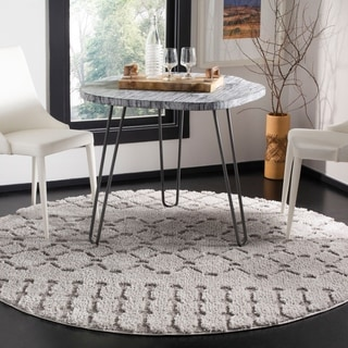 Safavieh Sparta Shag Contemporary Cream Runner Rug (2'3 x 8')