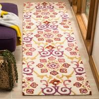 Safavieh Suzani Hand-Woven Wool Ivory/ Brown Runner Rug - 2'3 x 8'