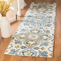 Safavieh Suzani Hand-Woven Wool Ivory/ Blue Runner Rug - 2'3 x 8'