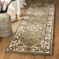 Safavieh Traditions Traditional Oriental Hand-Tufted Wool Green Runner Rug - 2'3 x 14'