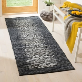 Safavieh Vintage Leather Modern Hand-Woven Grey/ Black Runner Rug (2'3 x 6')