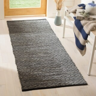 Safavieh Vintage Leather Modern Hand-Woven Grey Runner Rug (2'3 x 6')