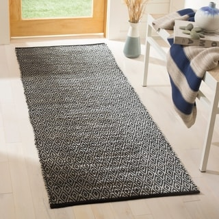 Safavieh Vintage Leather Modern Hand-Woven Grey Runner Rug (2'3 x 9')