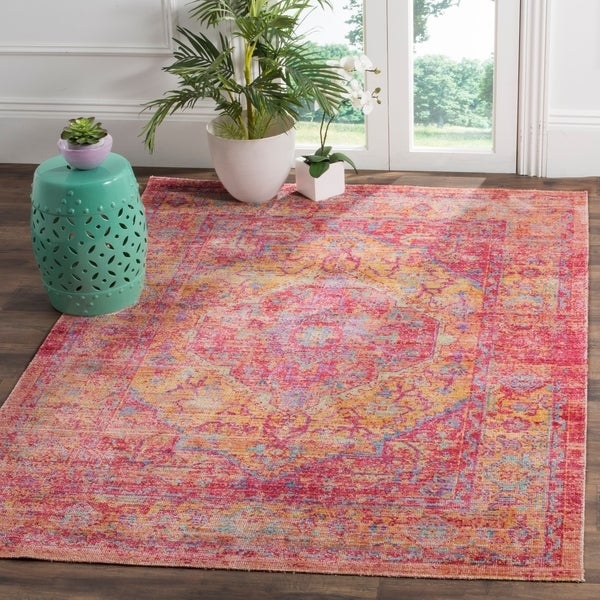 Safavieh Windsor Kaho Shabby Chic Cotton/ Polyester Distressed Rug