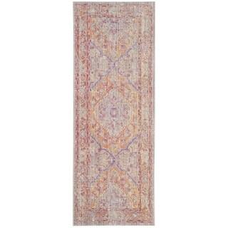 Safavieh Windsor Cotton Grey/ Gold Runner Rug (3'x 8')