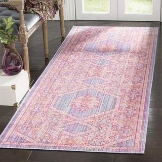 Safavieh Windsor Cotton Purple Runner Rug (3'x 8')