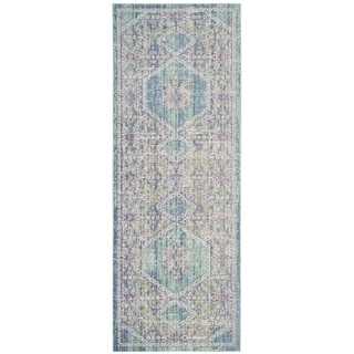 Safavieh Windsor Cotton Purple/ Blue Runner Rug (3'x 8')