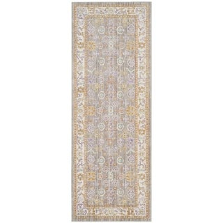Safavieh Windsor Cotton Grey/ Cream Runner Rug (3'x 12')