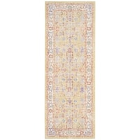 Safavieh Windsor Cotton Gold/ Purple Runner Rug - 3'x 10'