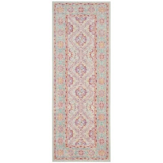 Safavieh Windsor Purple/ Blue Silky Runner Rug (3' x 12')