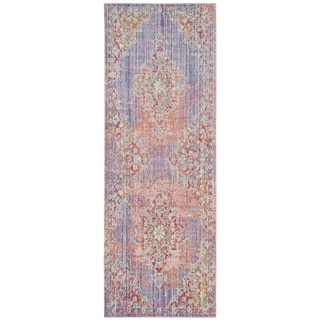 Safavieh Windsor Cotton Purple Runner Rug (3'x 12')