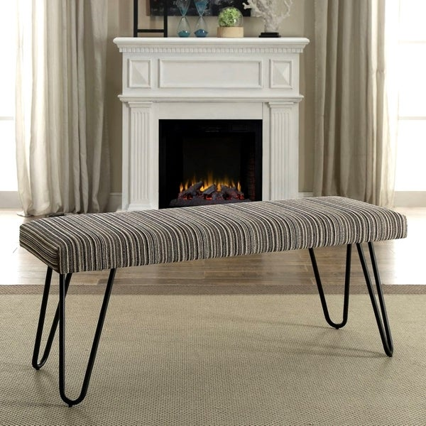 Shop Mid-Century Modern Multi-Colored Living Room Accent Bench with ...