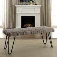 Mid-Century Modern Multi-Colored Living Room Accent Bench with Hairpin Legs
