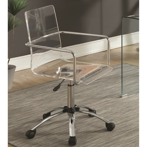 Modern Design Clear Acrylic Adjustable Office Chair with Chrome Base
