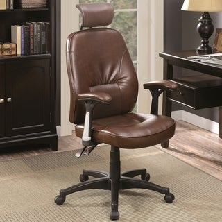 Modern Design Brown Adjustable Executive Swivel Office Chair