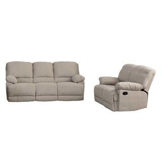 CorLiving Lea 2pc Chenille Fabric Reclining Sofa Set